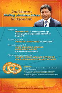 Chief Minister's Wedding Assistance Scheme for Orphan Girls