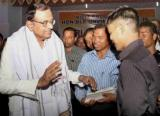 P Chidambaram interacting with leaders of Mizoram Bru Displaced Peoples Forum