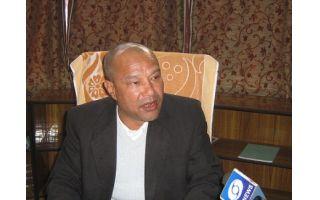 Mr Sanbor Shullai inaugurated the Foundation Stone