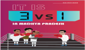 IT IS 3 VS 1 IN MADHYA PRADESH