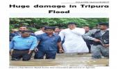 Huge damage in Tripura Flood