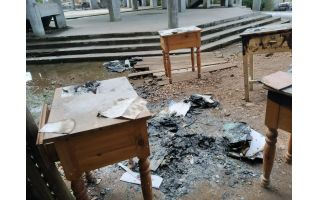 Nongrah Presbyterian School torched by Unknown miscreants