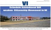 VI Schedule Amendment Bill weaken Citizenship Movement in NE