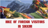 Hike of Foreign Visitors In Sikkim