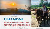 Chandni paints her imagination: Nothing is Impossible